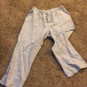 XL Ellen Tracy linen pants